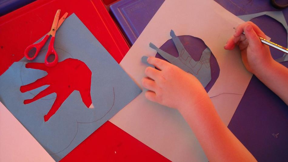Warsztat plastyczny Ręce, czyli przedstawiamy się Brescia lipiec 2009, fot. Joanna Tekla Woźniak