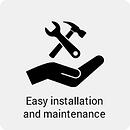 Easy installation and maintenance