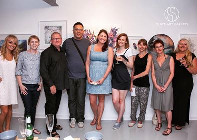 Myself with a few of the exhibiting artists