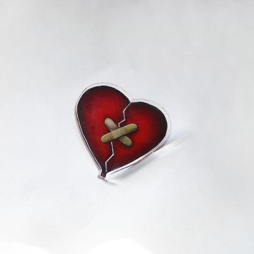Band-Aid Heart Pin