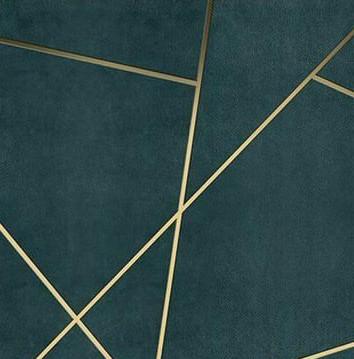 Geometric Gold Wall 1