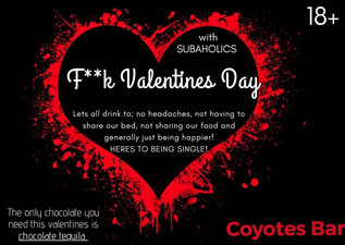 Valentines Day Special @ Coyotes on February the 14th