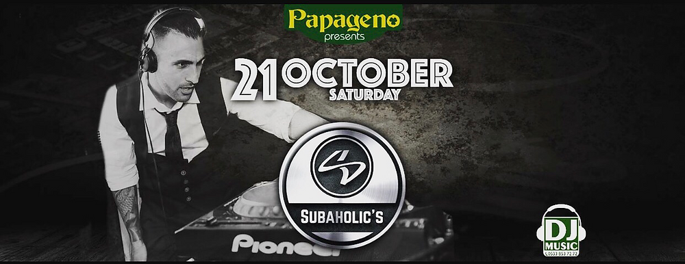 Saturday the 21st October at Papageno