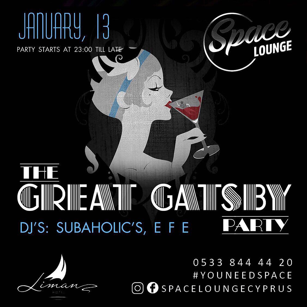 The Great Gatsby / January 13th at Space Lounge