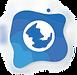 Web icon blue