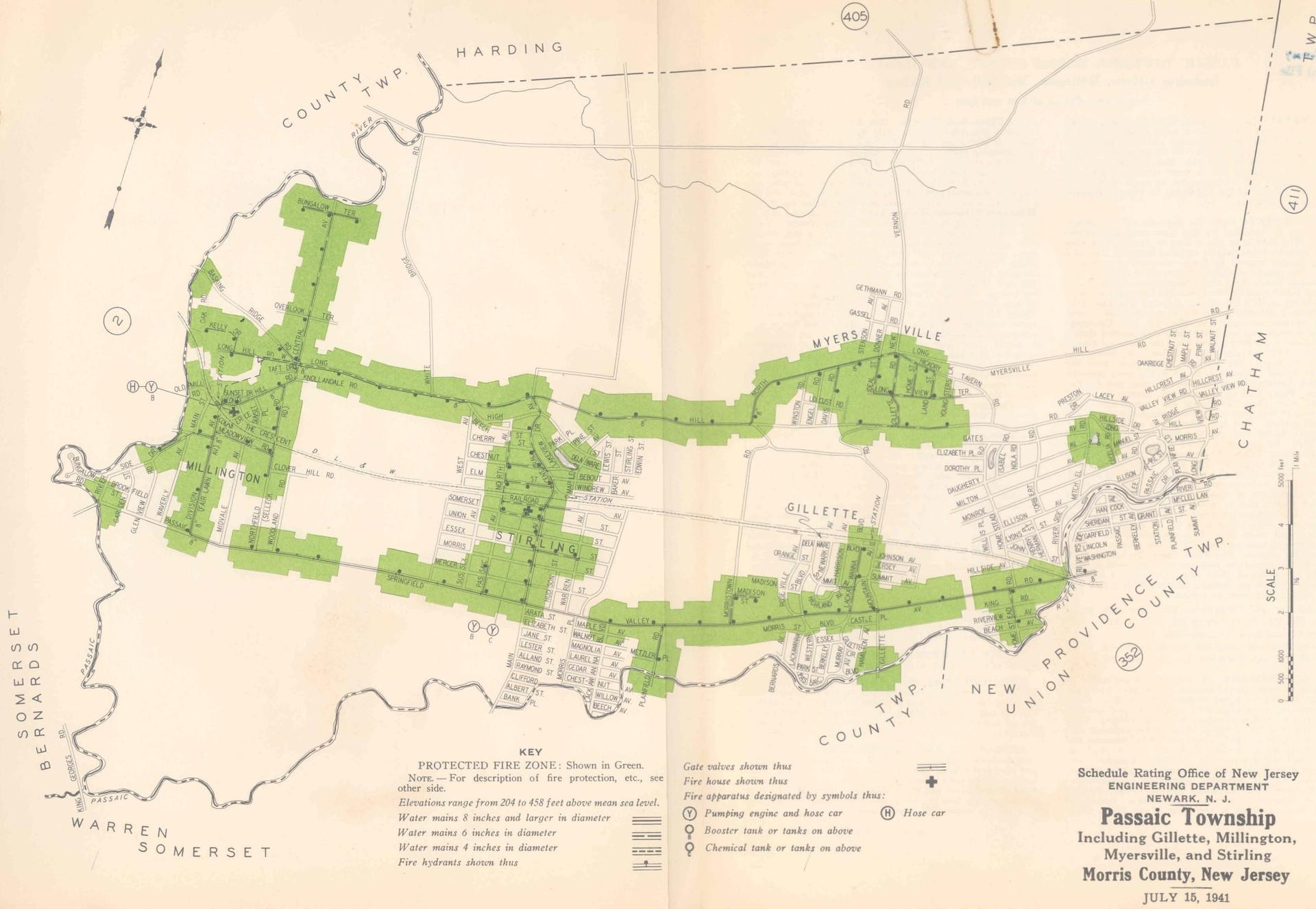 1941 Planning Map