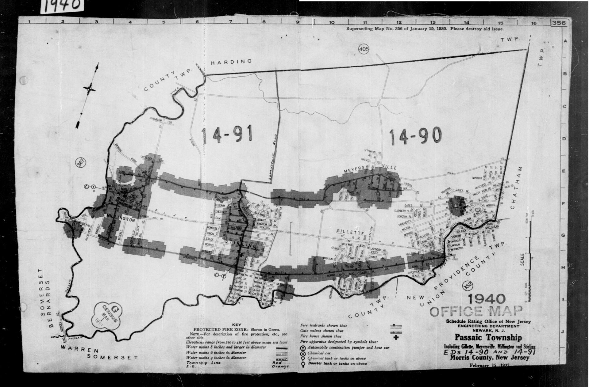 1937 Planning Map