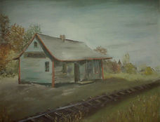 Stirling Train Station Painting by Jean