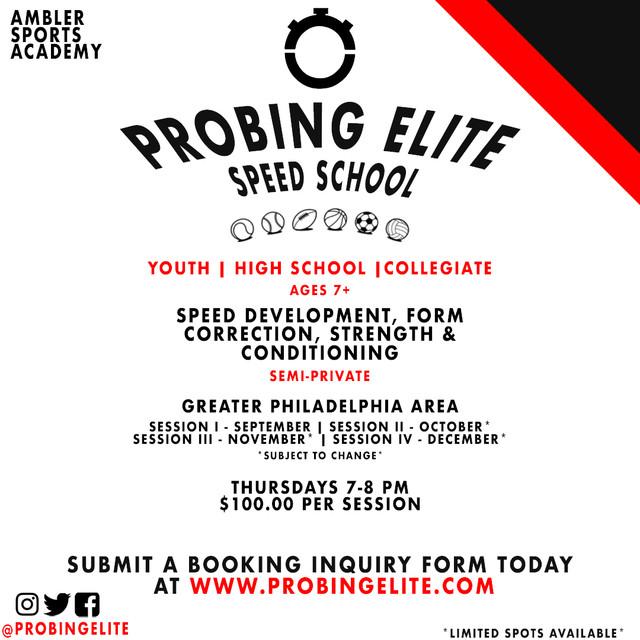 Probing Elite Speed School- Ambler Sports Academy
