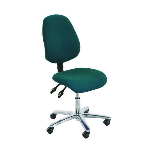 Chrome High Back Fabric Office Chair