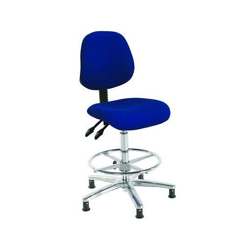 Chrome Medium Back Fabric Draughtsman Chair
