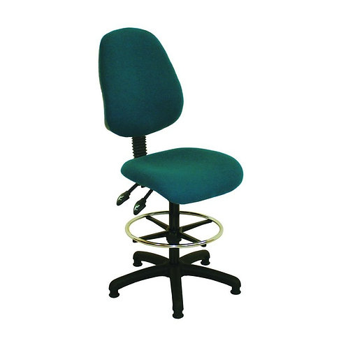High Back Fabric Draughtsman Chair