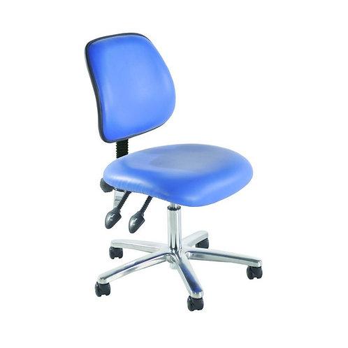 Chrome Medium Back Vinyl Lab Chair