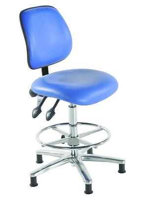 Chrome Medium Back Vinyl Draughtsman Chair
