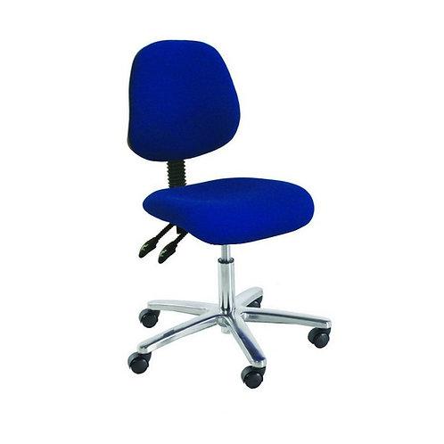Medium Back Chrome Office Chair