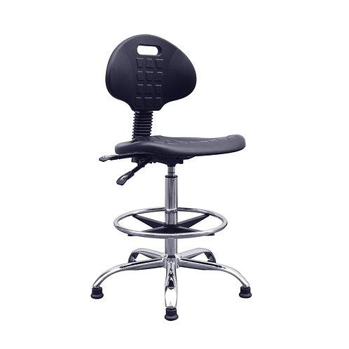 Lab Space Polyurethane Chrome Draughtsman Chair