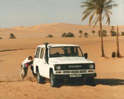 Panne dans le désert d'Algérie