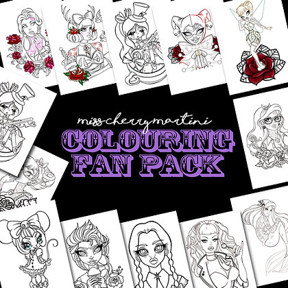Printable Colouring In Fan Pack