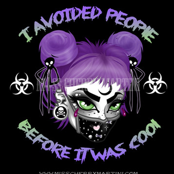 The Virus of 2020 Corona/Covid 19  May we all survive it By Miss Cherry Martini  Available in my Redbubble Store!