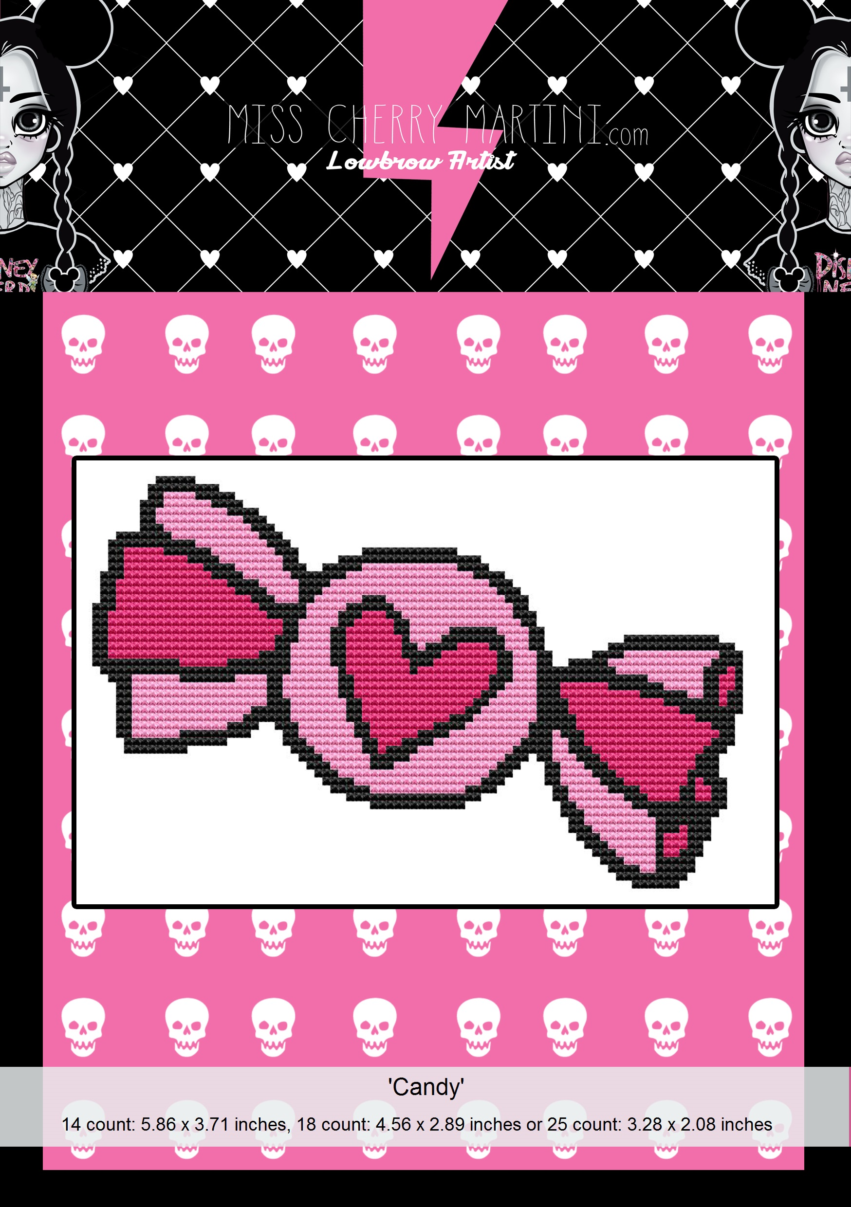 Mini Cross Stitch Candy