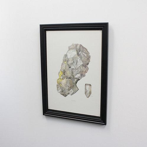 ドイツ鉱物画Aragonite