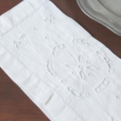 刺繍リネンのケース 花の輪