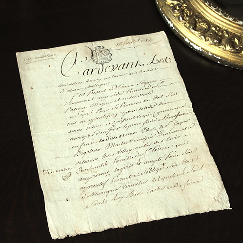 1782年 羊皮紙の書