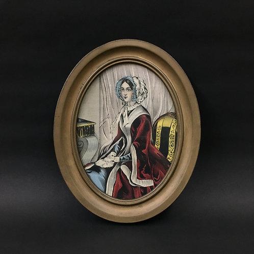 ヴィクトリアンレディの絵