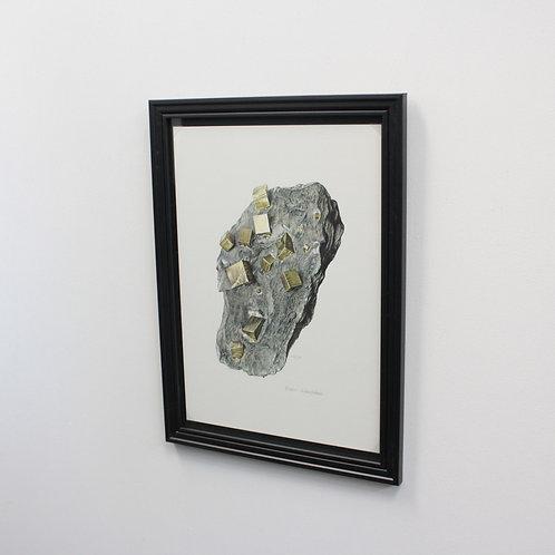 ドイツ鉱物画Pyrite