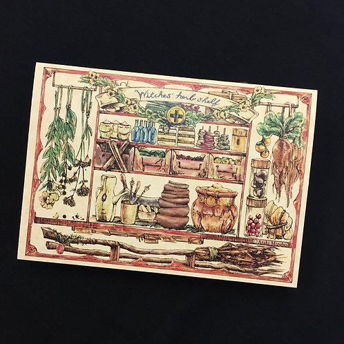 2ツ折カード「魔女の薬草棚」