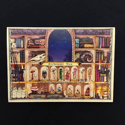 2ツ折カード「錬金術師の夜」
