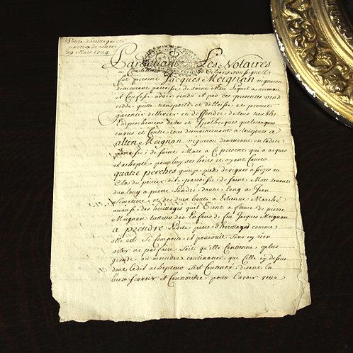 1724年 羊皮紙の書