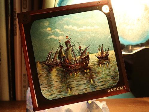 幻灯機スライド sailing ship