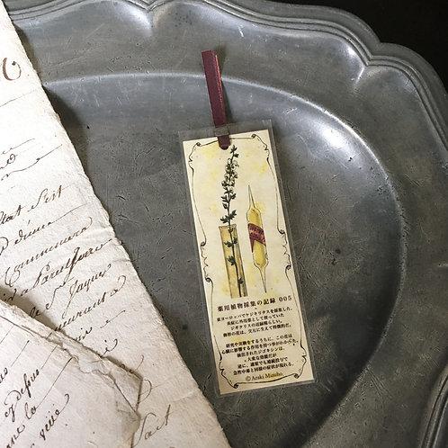 しおり 薬用植物採集の記録005