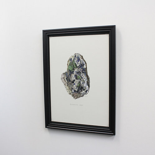 ドイツ鉱物画Azurite