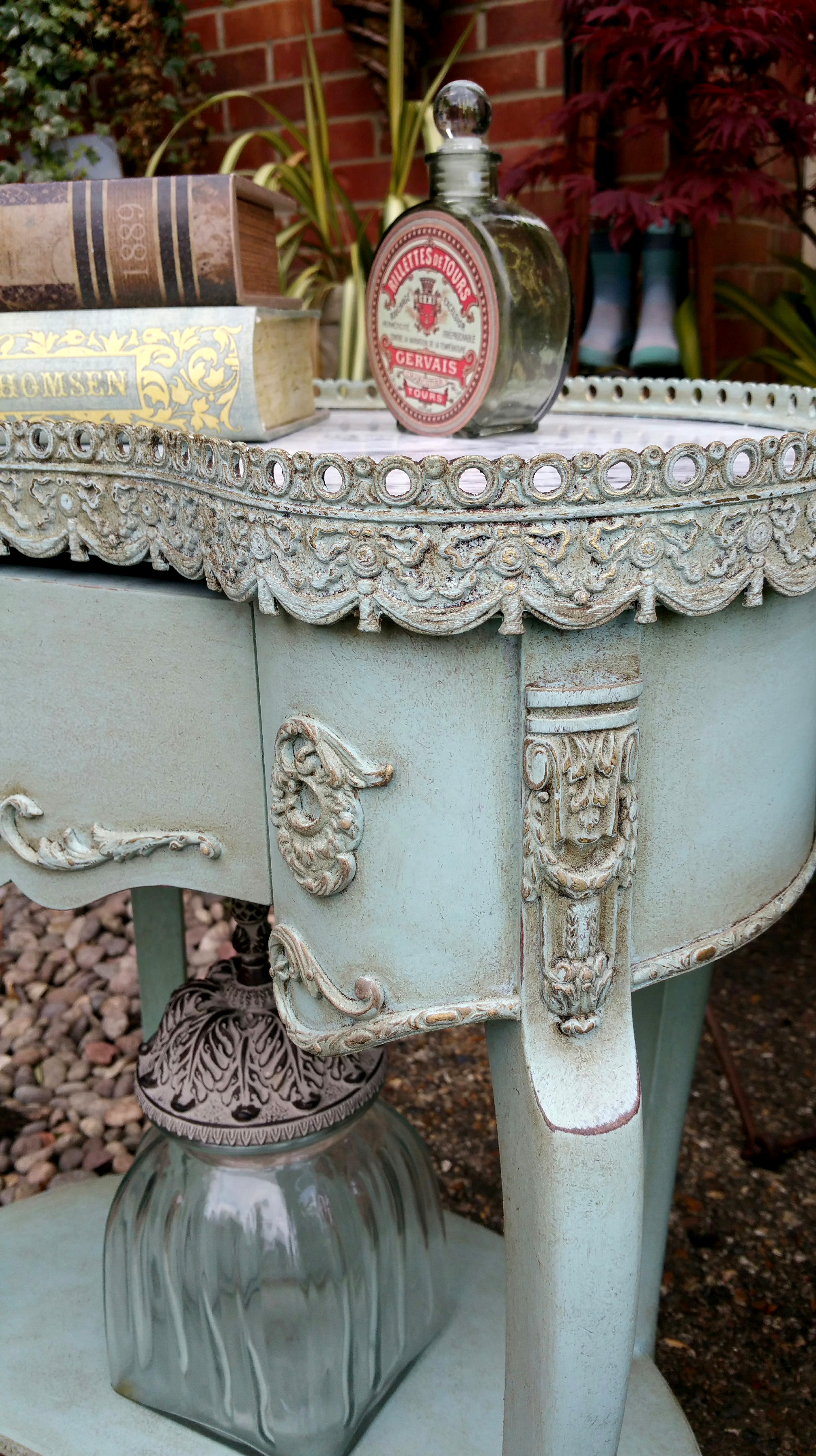 The French Turquoise Side Table