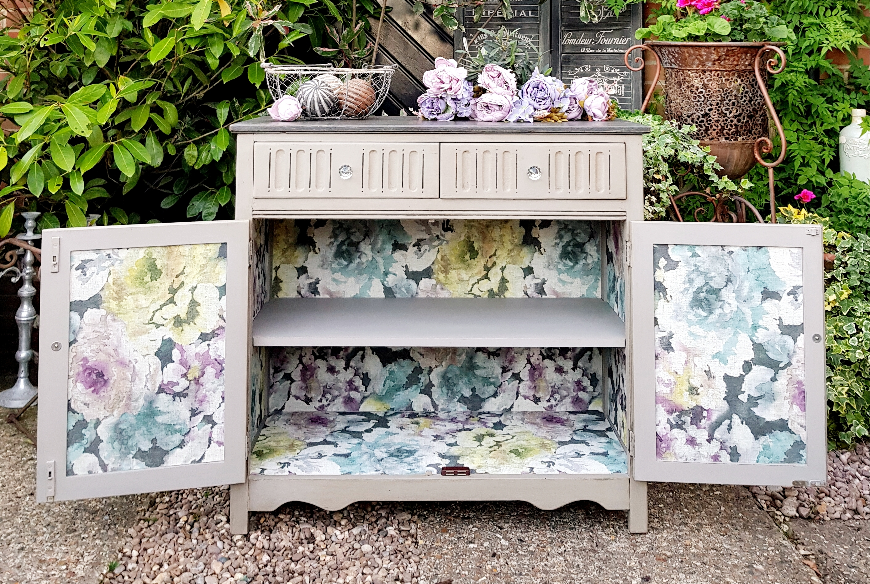 The French and Floral Linen Cupboard