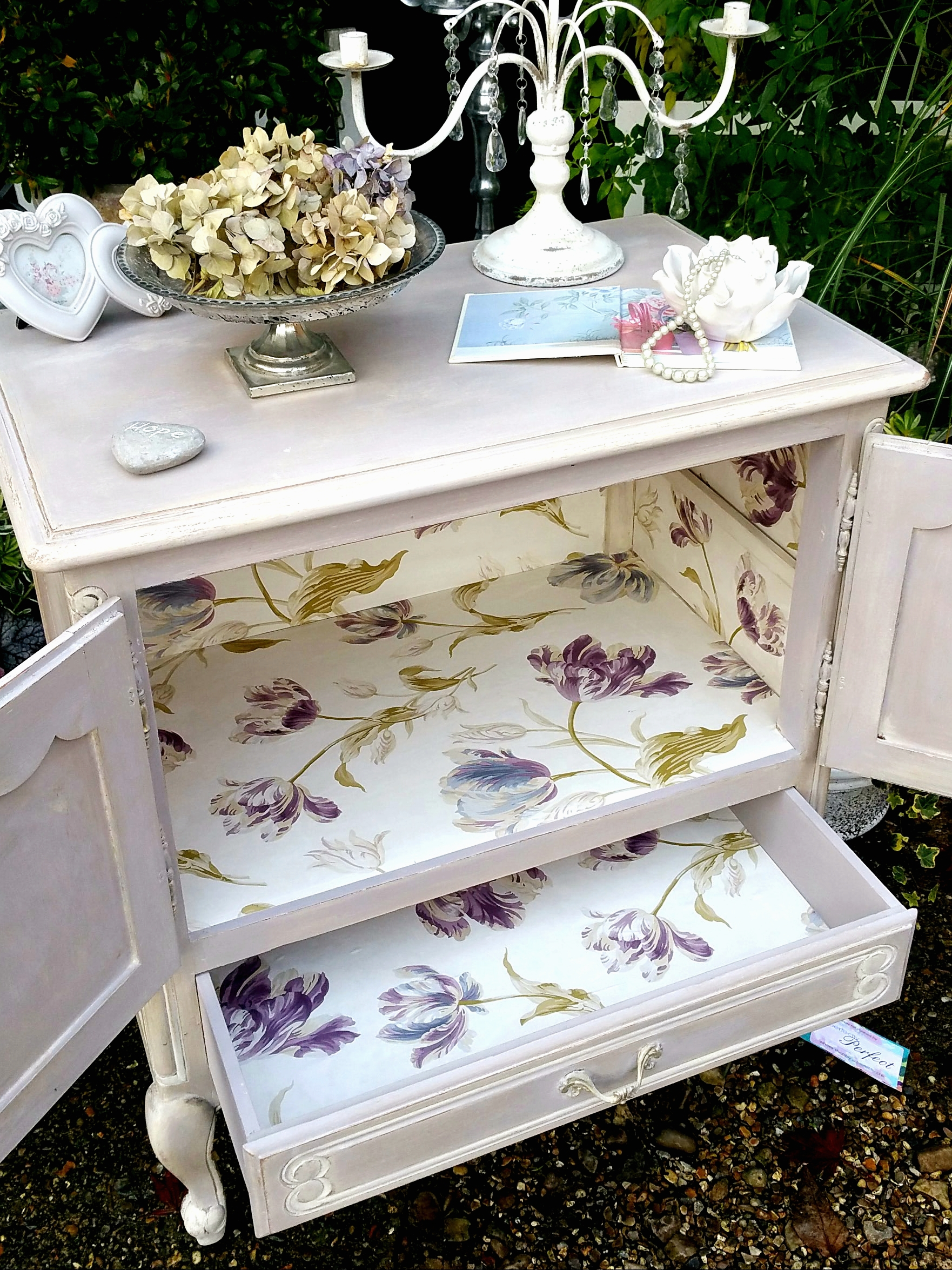 The Lilac Lined Cabinet