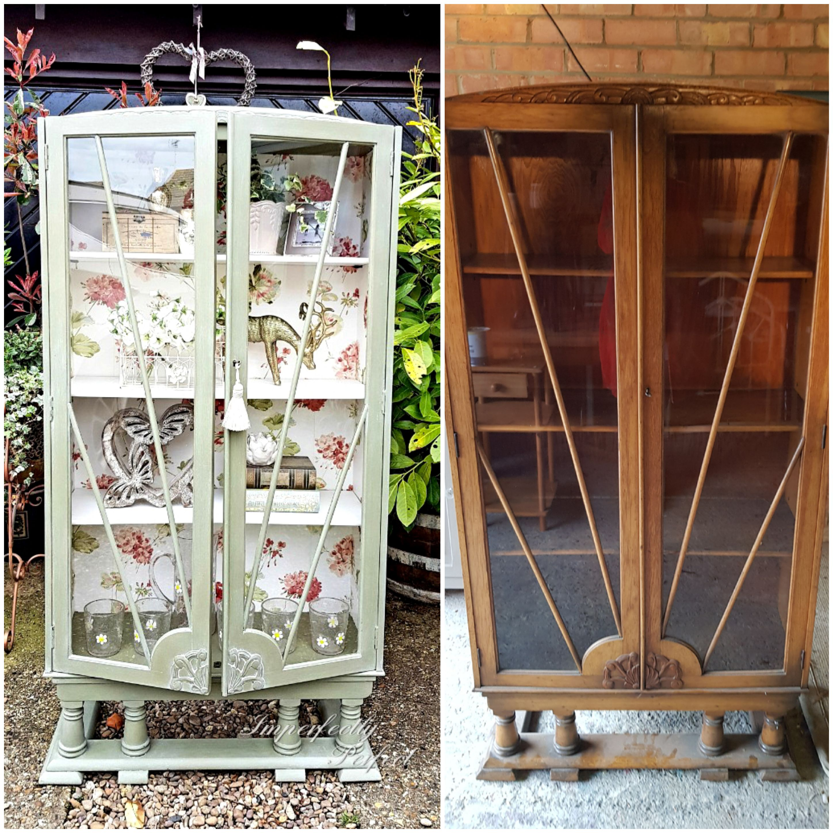 Arts and Crafts Display Cabinet