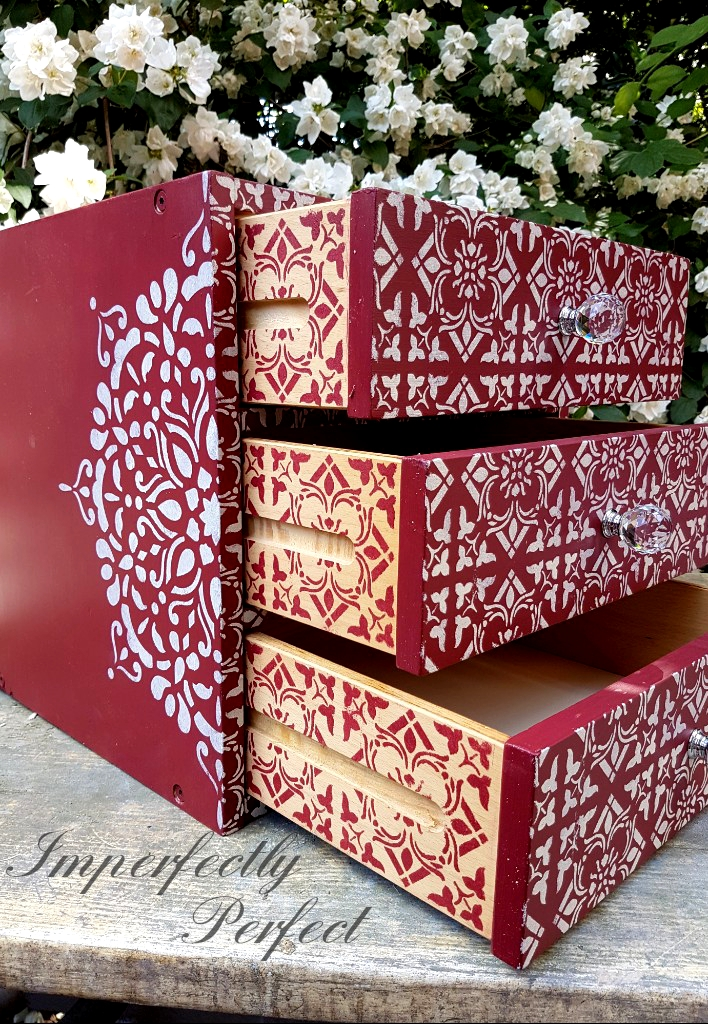 The Cranberry Moroccan Box Drawers