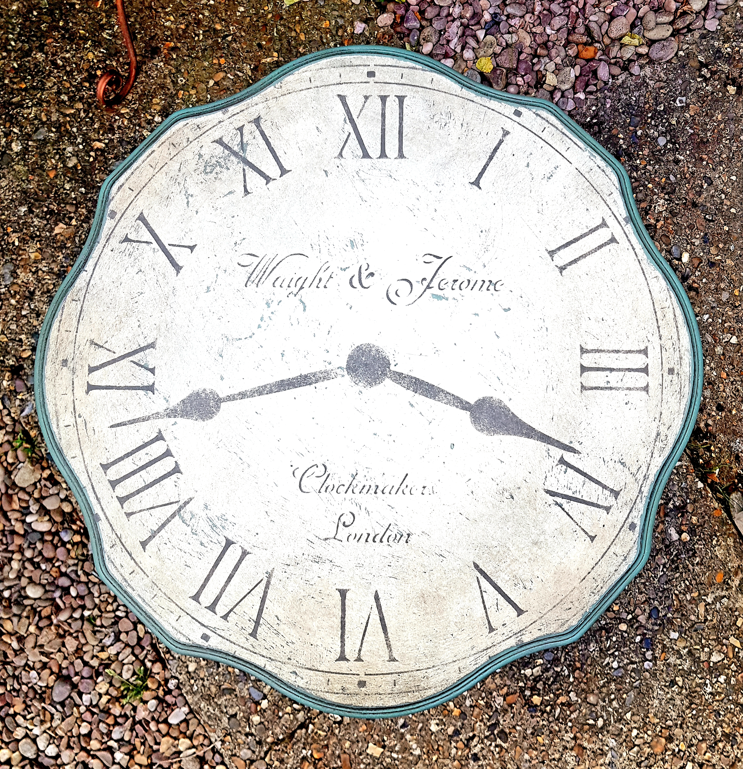 The Vintage Clock Side Table