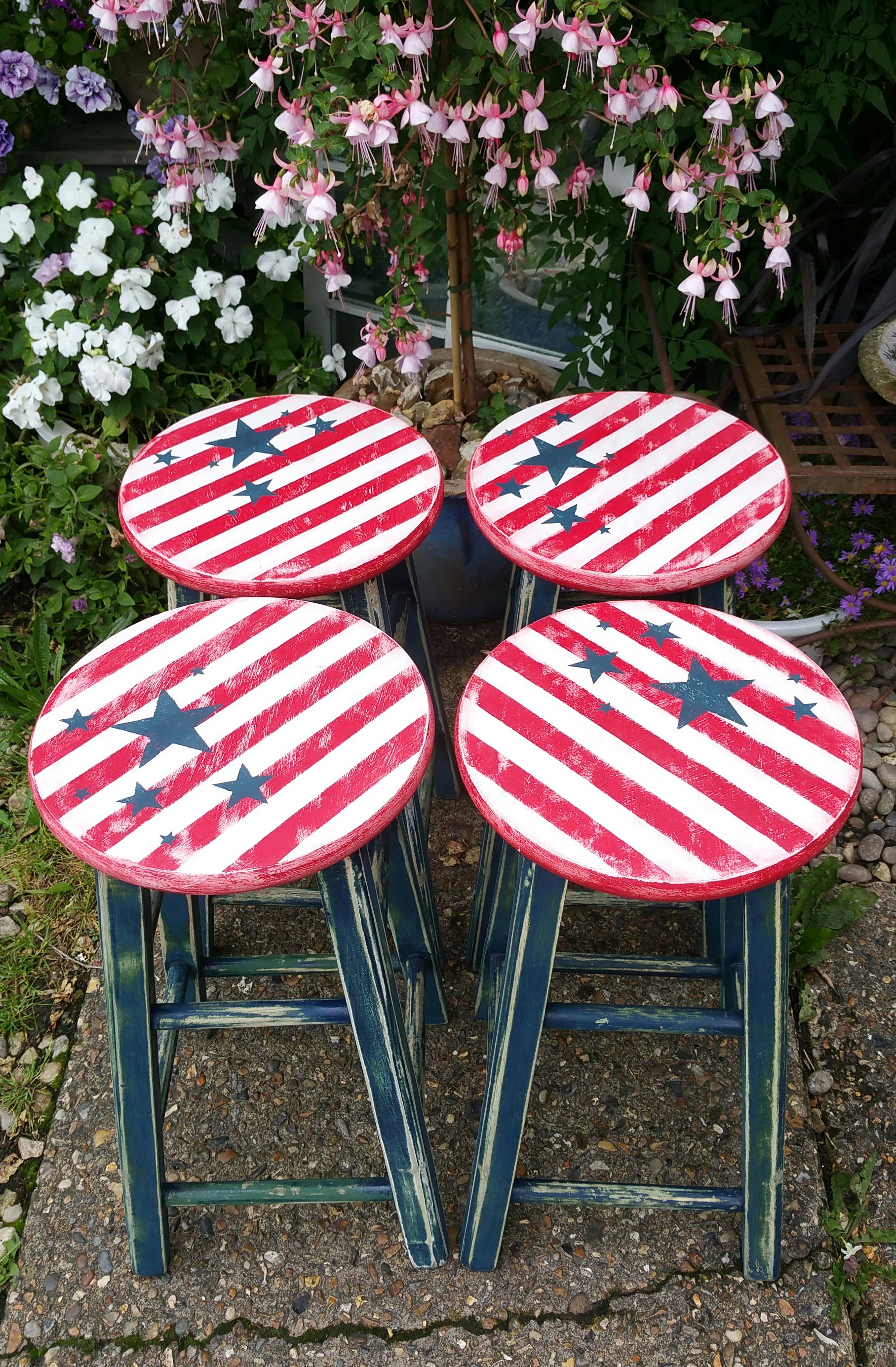 The Star and Stripe Stools