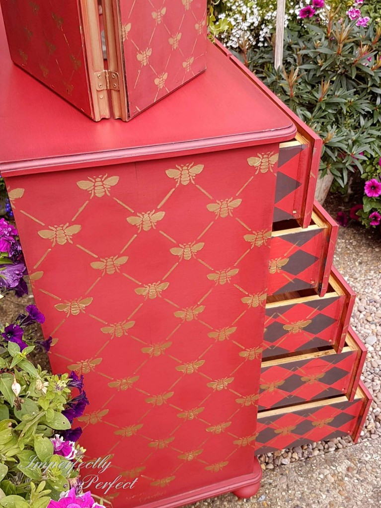 The Red Bee Harlequin Drawers