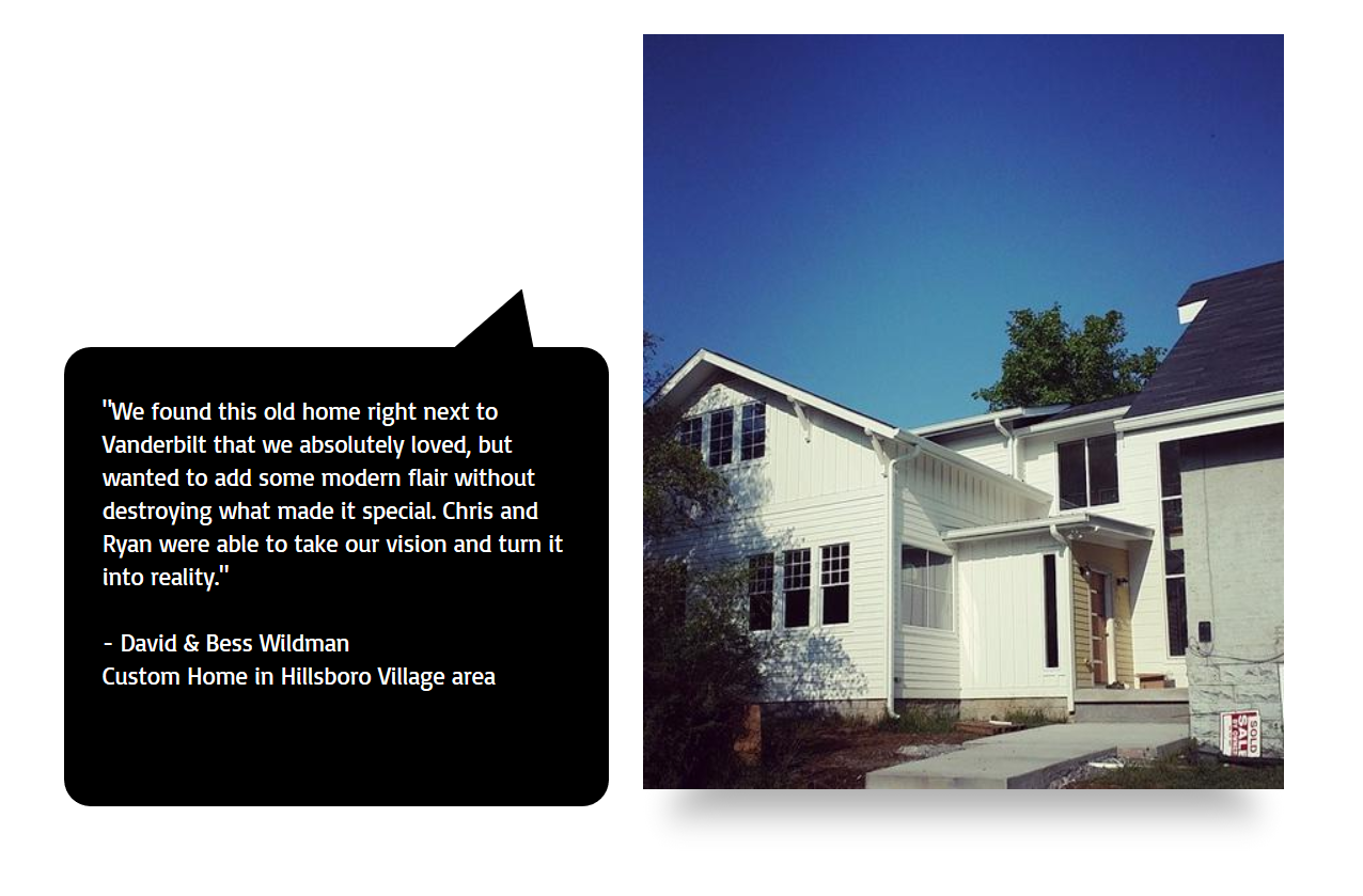 Custom Home in Hillsboro Village