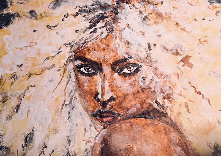 Peinture Acrylique femme Noemie Lenoir Blonde