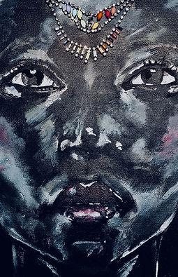 Peinture Acrylique femme bijou transparence