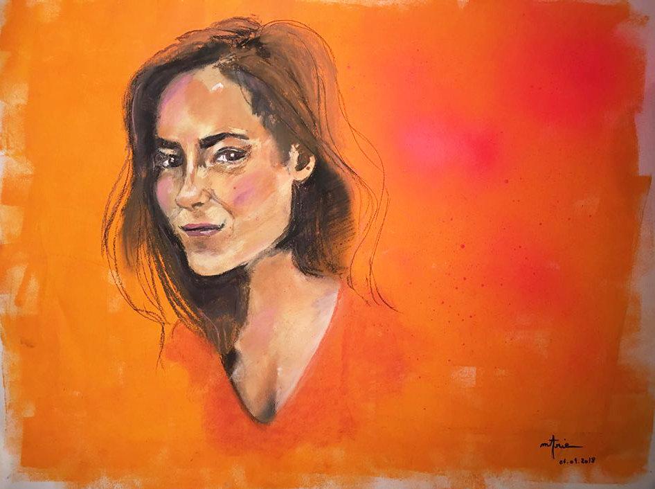 Peinture Acrylique femme Léa