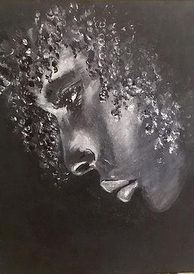 Peinture Acrylique femme songe