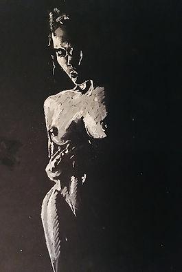 Peinture Acrylique femme lumière