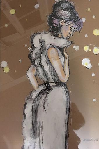 Peinture Acrylique femme reve